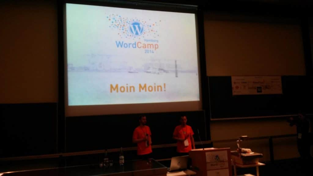 WordCamp Hamburg 2014 says Moin Moin