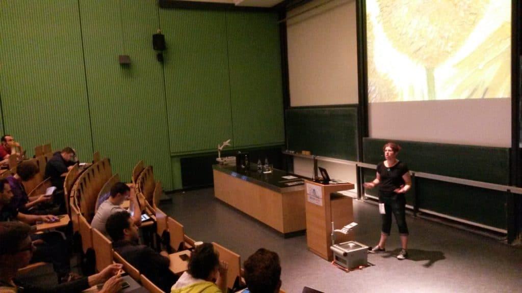 Tammie presenting at WordCamp Hamburg 2014
