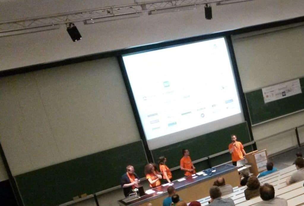 Torsten closing off WordCamp Hamburg 2014